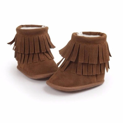 Double Layer Tassel Soft Snow Baby Boots,  Kids & Babies - Found Lost Outdoors
