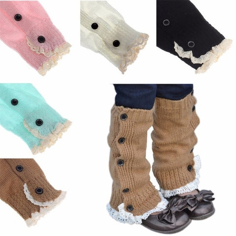 Soft Baby Crochet Knitted Kids Leg Warmers