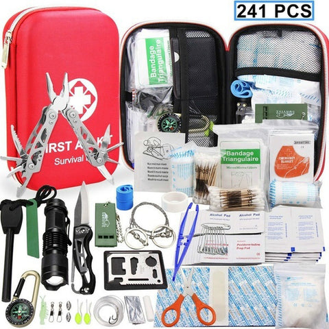 241 Pieces Outdoor Emergency Survival Kit Gear,  Survival - Found Lost Outdoors