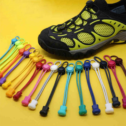 Elastic No Tie Locking Shoelaces for Athletics, Outdoor and Sports Shoes (1 Pair),  Footwear - Found Lost Outdoors