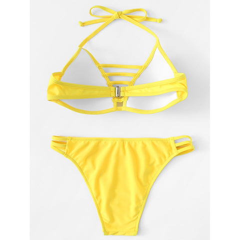 Halter Neck Strappy Bikini Set,  Women - Apparel - Swimwear - Bikinis Separates - Found Lost Outdoors