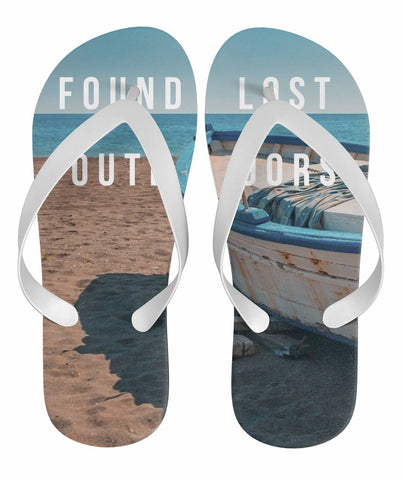 Ocean Fishing Boat Flip Flop Sandals,  Footwear - Found Lost Outdoors