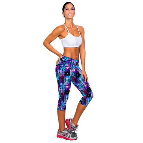Women's Stretchable Fitness Cropped Leggings,  Women - Apparel - Activewear - Leggings - Found Lost Outdoors