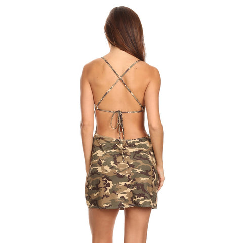 Women's Camo Cross String Beach Dress Camouflage Cover Up Made In USA,  Women - Apparel - Swimwear - Cover Ups - Found Lost Outdoors