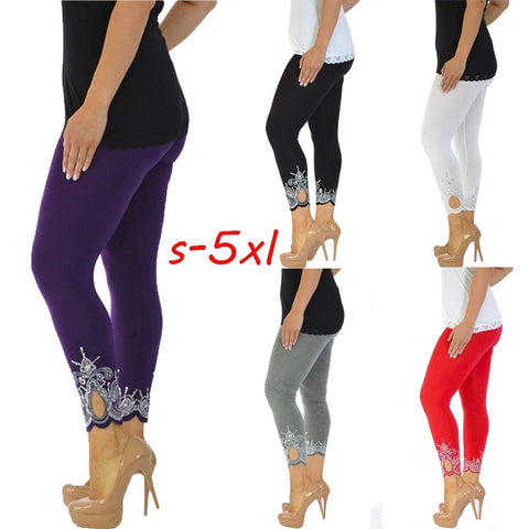 Women's Plus Size Printed  Full Length Leggings,  Pants - Found Lost Outdoors