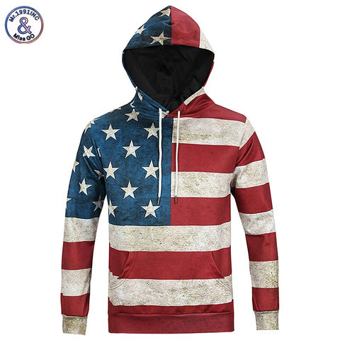 Mr.1991 Inc. American Flag Pullover Hoodie,   - Found Lost Outdoors