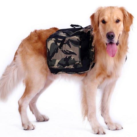 Camouflage Backpack Dog Carrier,  Hiking - Found Lost Outdoors