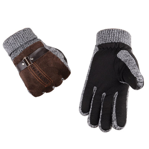 Mens Warm Non-slip Gloves,  Winter Men - Found Lost Outdoors