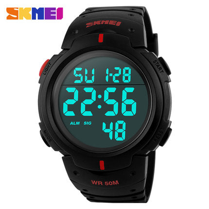 Men's Digital Sports Watch | Water Resistant 50m,   - Found Lost Outdoors