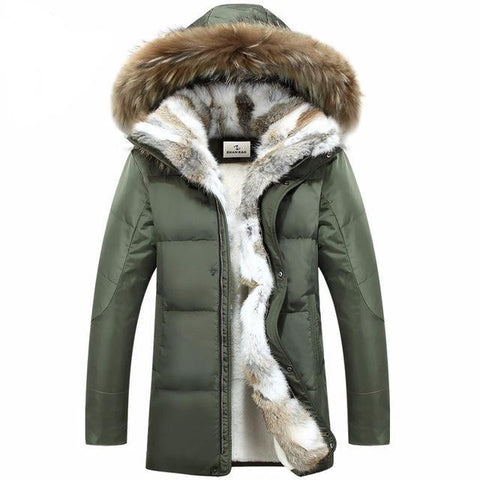 Men's and Women's Duo Hopper IV Down Jacket with Removable Fur Hood,   - Found Lost Outdoors