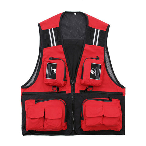 Men's Multi Pocket Waterproof and Breathable Fishing Vest,   - Found Lost Outdoors
