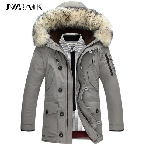 Men's Ewe-Back 100% Wool Fur Collar Hooded,   - Found Lost Outdoors
