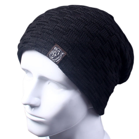 Casual Brand Men Winter Fur Knitted Beanie