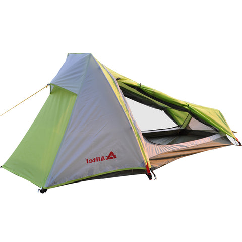 1 Man Double Layered Waterproof Ultralight Aluminum Outdoor Tent,   - Found Lost Outdoors