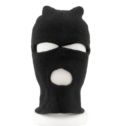 Three Hole Balaclava Knit Hat Winter Stretchable Snow Mask,   - Found Lost Outdoors