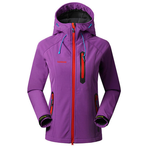 SAENSHING Softshell Women's Waterproof Rain Coat,   - Found Lost Outdoors