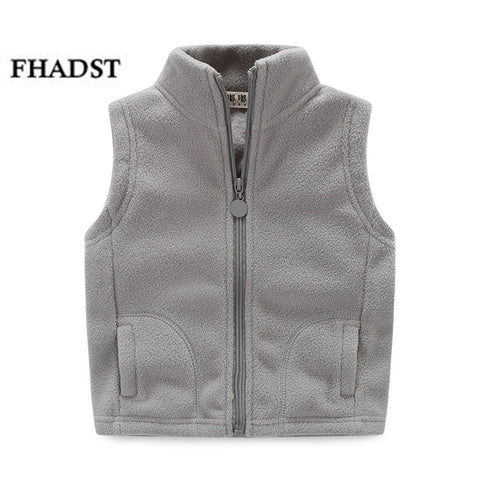 Kid's Turtleneck Fleece Winter Vest,   - Found Lost Outdoors