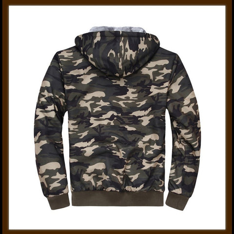 Lined Camouflage Hoodie,   - Found Lost Outdoors