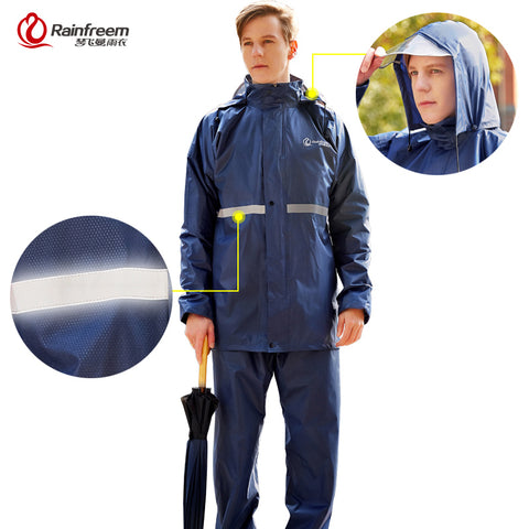 Rainfreem Raincoat Suit | Impermeable Unisex Hooded,   - Found Lost Outdoors