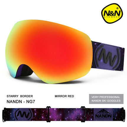 NANDN  Double Layers UV 400 Snowboarding Goggles,   - Found Lost Outdoors