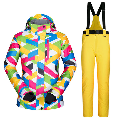 Women's Psychedelic Ski or Snowboard Jacket + Pants Suit,   - Found Lost Outdoors