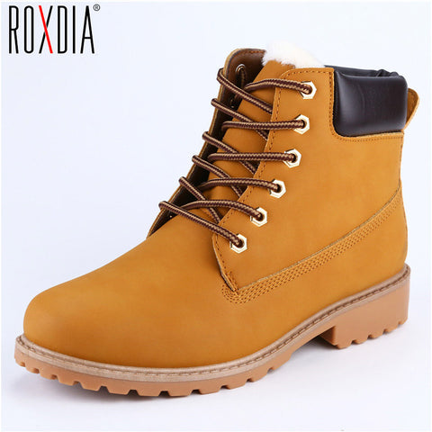 ROXDIA Faux Suede Leather Men's Winter Boots,   - Found Lost Outdoors