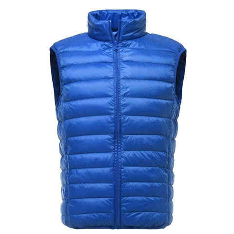 Men's Outerpas Winter Ultralight White Duck Down Vest,  Vest - Found Lost Outdoors