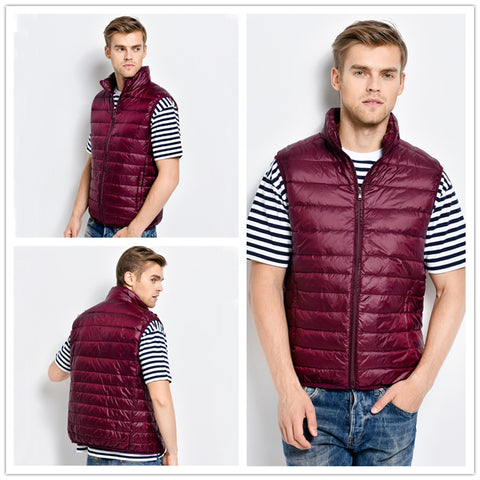 Men's Outerpas Winter Ultralight White Duck Down Vest,   - Found Lost Outdoors