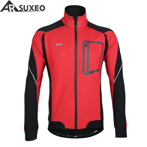 ARSUXEO Waterproof & Windproof Winter Cycling Jacket,   - Found Lost Outdoors
