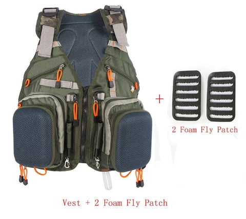 Army Green Adjustable Multifunction Fishing Vest,   - Found Lost Outdoors