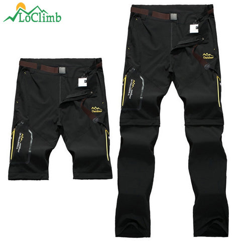 Stretchable Waterproof Camping Hiking Outdoor Convertible  Pants,   - Found Lost Outdoors