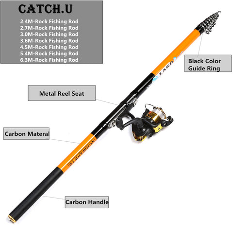 Catch.U | Carbon Rock Fishing Rod,   - Found Lost Outdoors