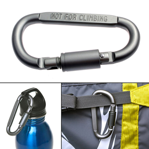 Aluminum Carabiner,  Survival - Found Lost Outdoors