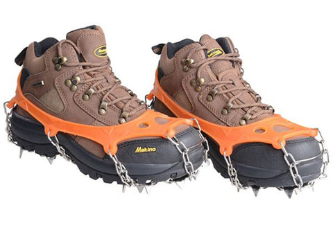 19 Teeth Anti-Slip Ice Cleats Boots Crampon,   - Found Lost Outdoors