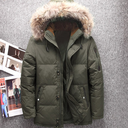 Men's Winter 4 Duck Down Parka Jacket,  Winter Men - Found Lost Outdoors