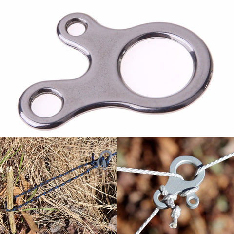 3 Hole EDC Survival Buckle Multi-purpose CNC Stainless Steel Outdoor KnottingTool,  Survival - Found Lost Outdoors
