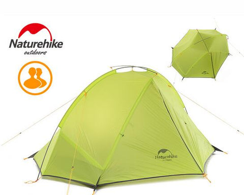 NatureHike  Portable Double-Layer Lightweight Camping Tents,   - Found Lost Outdoors
