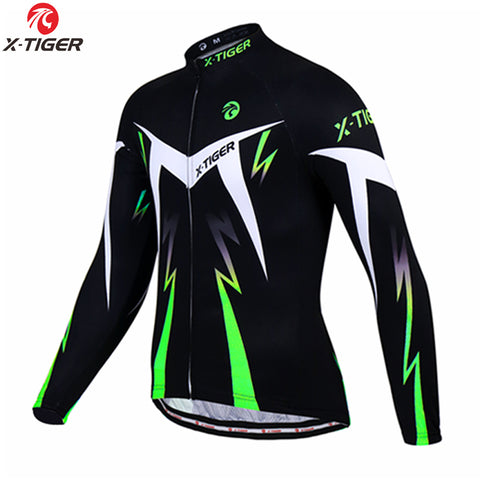 X-TIGER - Long Sleeve Fleece Cycling Jacket,   - Found Lost Outdoors