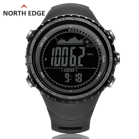 Men's Digital Watch | Altimeter Barometer Compass Thermometer Pedometer,   - Found Lost Outdoors