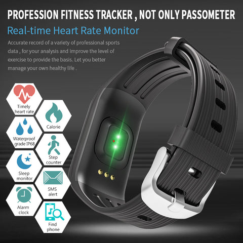 K1 Smart Bracelet Real-Time Heart Rate Monitor,   - Found Lost Outdoors