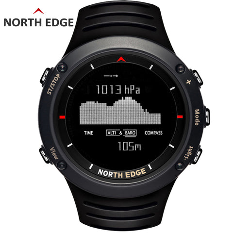 NORTH EDGE Men's Digital Watch | Altimeter Barometer Compass Thermometer,   - Found Lost Outdoors
