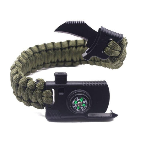 Military Outdoor Paracord Survival Bracelet,  Survival - Found Lost Outdoors