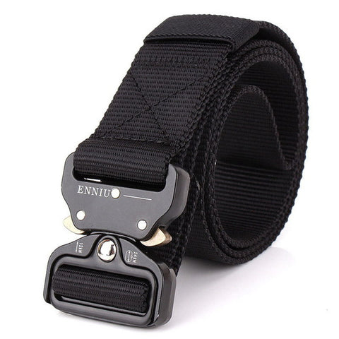 Men's Nylon Tactical Belt with Metal Insert-Buckle,  Belts - Found Lost Outdoors