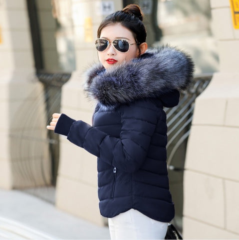 Women's Mordovian Winter Parka Jacket with Fur Hood,   - Found Lost Outdoors