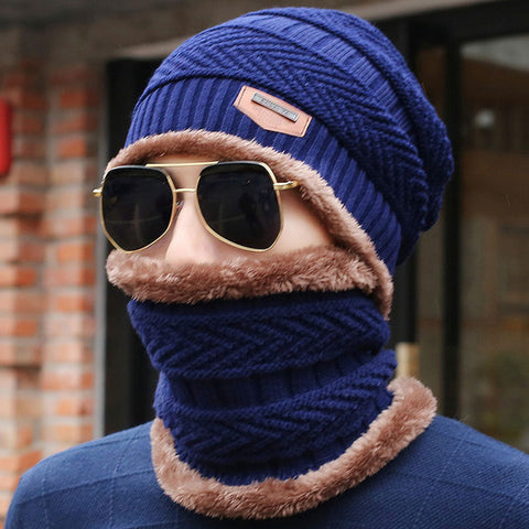 Knitted Winter Scarf Beanies with Neck Warmer,   - Found Lost Outdoors