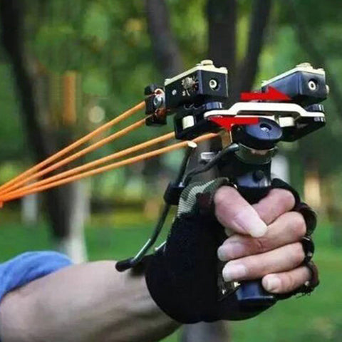 Professional Stainless Steel Red Laser Slingshot