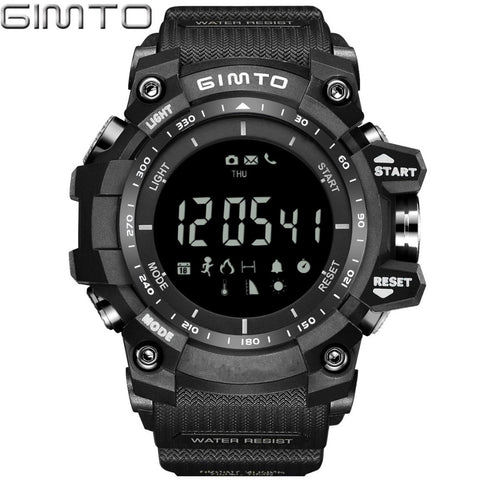 Men's Digital Sport Watch | Waterproof Pedometer Altimeter Temperature,   - Found Lost Outdoors