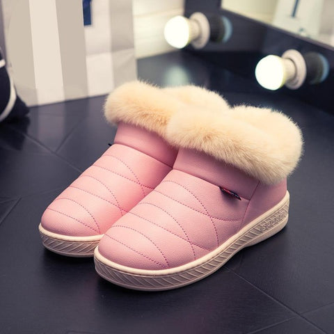 Women's Winter Fur Ankle Snow Boots,   - Found Lost Outdoors