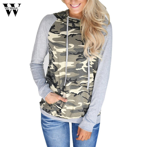 Womail Camouflage Hooded Hooded Sweatshirt
