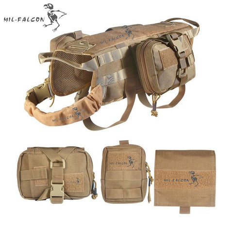 The Falcon MOLLE Tactical Dog Vest Pack,   - Found Lost Outdoors